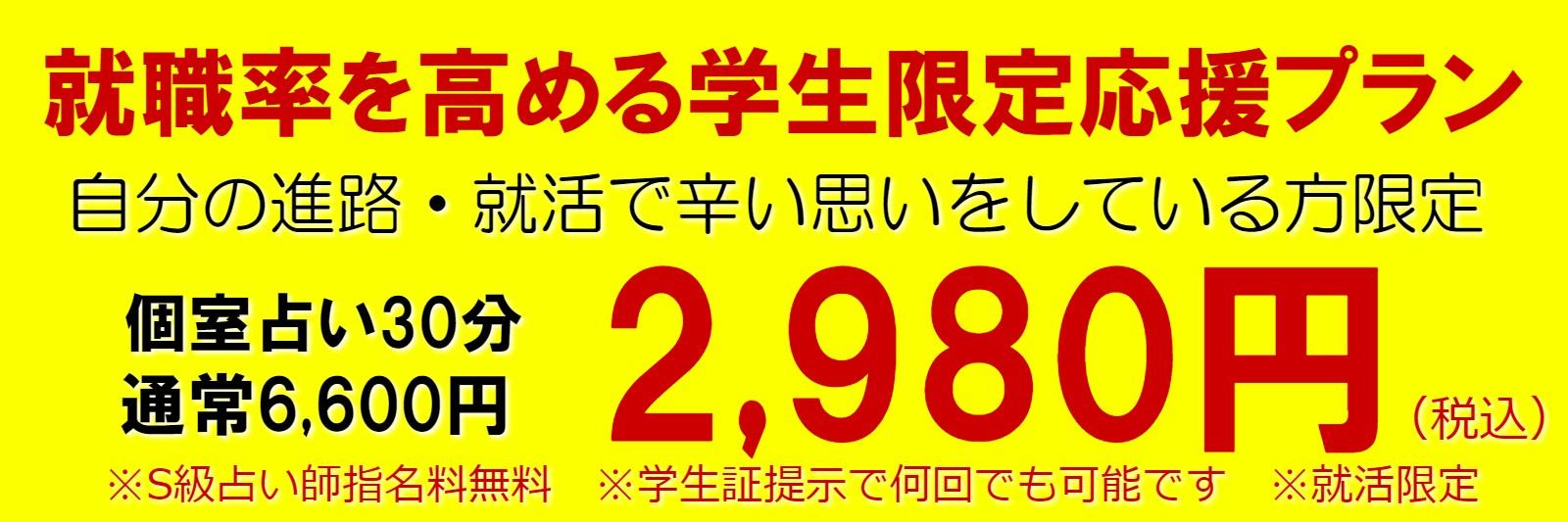 東京で就活占いなら就職率を高める個室占い30分プラン【2,980円】がオススメ!就活が「辛い」「疲れた」「不安」「何に向いているか分らない」など誰もがお悩む就活のお悩み限定の集中占いコースです!